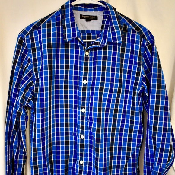 Banana Republic Other - Banana Republic Men's soft wash checkered shirt
